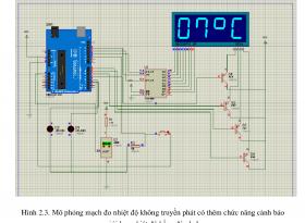 Đề tài Thiết kế mạch đo nhiệt độ sử dụng board arduino, hiển thị trên 4 led 7 thanh